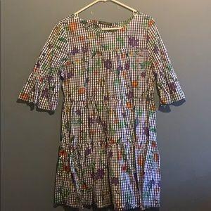 Romeo + Juliet floral gingham dress Size M